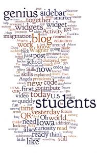 Teacher Challenge Blog Posts in a Wordle