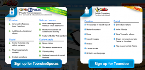 Choose ToonDooSpaces or Individual Account